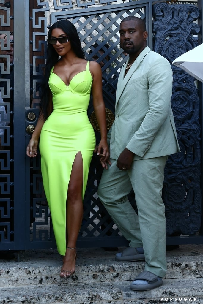 Kim-Kardashian-attended-2-Chainz-wedding-wearing-slime-green